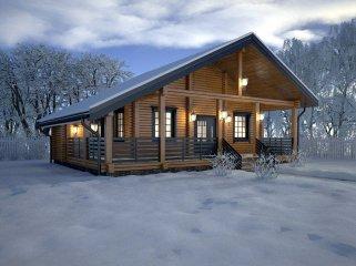Стоит ли начинать строительство дома из клееного бруса зимой
