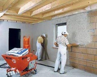 Технология механизированного нанесения штукатурки на стены