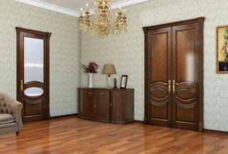 Какие двери установить в своем доме: из шпона или массива