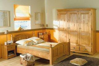 Выбор мебели для спальни из массива сосны