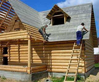 Возведение крыши в деревянном доме