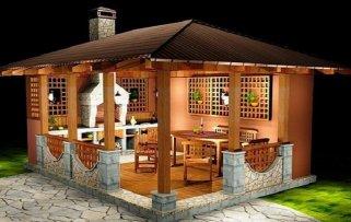 Как построить беседку с барбекю на даче?