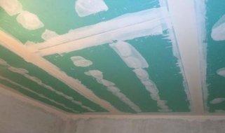 Шпатлевка и покраска подвесного потолка